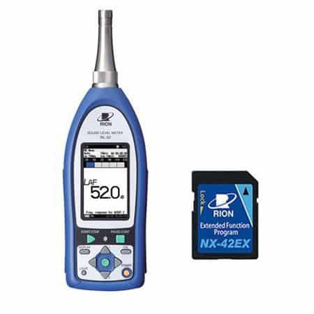 Máy đo độ ồn RION NL-42EX (Máy đo độ ồn RION NL-42 + NX-42EX cài đặt sẵn)