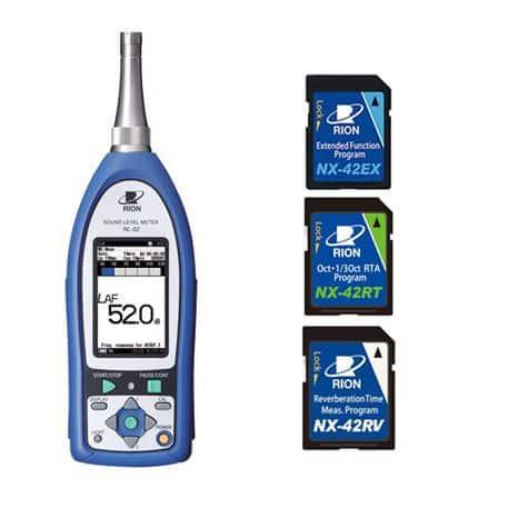 Máy đo độ ồn RION NL-52RV (Máy đo độ ồn RION NL-52 + NX-42EX + NX-42RT + NX-42RV được cài đặt sẵn)