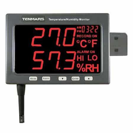 Thiết bị đo nhiệt độ/độ ẩm Tenmars TM-185D (-20º to 60ºC,5%~95%, lưu dữ liệu)