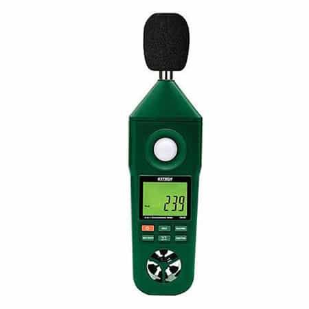 Máy đo nhiệt độ, độ ẩm, ánh sáng, tốc độ gió Extech EN300