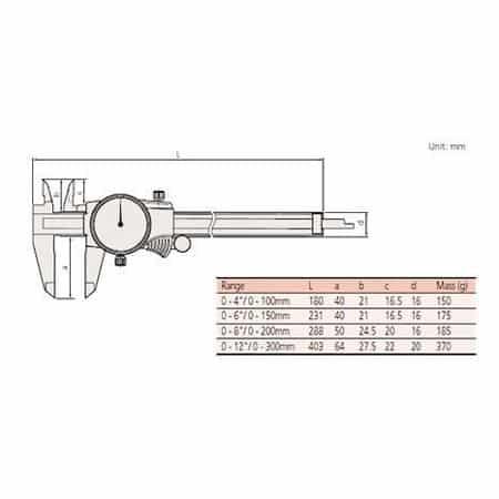 Thước Cặp Đồng Hồ MITUTOYO 505-745 (0-300mm/ 0.02mm)